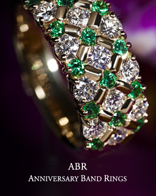 ABR Anniversary Band Rings / Enjoy Combinations of Color and Brilliance