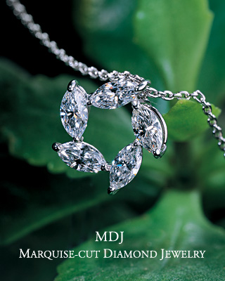 MDJ Marquise-cut Diamond Jewelry / Enjoying the Marquise's Beautiful, Leaf-like Shape